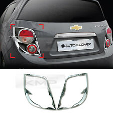 Chrome Tail Light Rear Lamp Molding Cover C411 for CHEVROLET 11-16 Sonic Aveo 5D