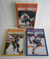 Sporting News HOCKEY REGISTER Lot: Tim Kerr, Mario Lemieux, Wayne Gretzky Covers