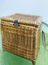 VINTAGE CREEL NET BAG BASKET FISHING FISH UNIQUE WITH STRAP HIPSTERS LUNCH BOX