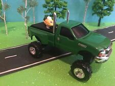 FORD, John Deere, F350, ERTL, 1/64 Custom LIFTED FORD F350 DUALLY Farm Toy