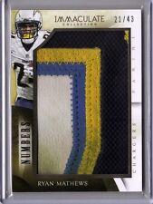 2014 Panini Immaculate RYAN MATHEWS 4 CLR DIRTY PATCH NUMBERS #/43