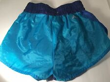 Ladies Asics Sprint   shorts size XS Shiny Wet Look  Nylon Sport
