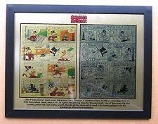 Disney Uncle Scrooge 1954 Printing Plate & Page  printed to 12 x 15 metal plate