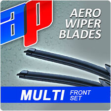 "26""/17"" Front Aero Ap Exact Fit Flat Wiper Blades Beam Window Windscreen V1"