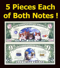 SET USA Fantasy 10 notes (5 pieces of each note) 2002, Cats and Dogs Set