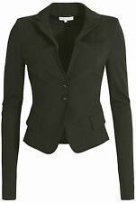 PATRIZIA PEPE SWEAT BLAZER JACKE OLIV GRÜN GR IT 40 D 34 SLIM FIT TAILLIERT NEU
