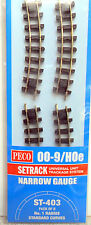 Peco  ST-403  No1 Standard curves x8 Narrow Gauge Track 009/HOe