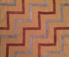 LEE JOFA Oscar de la Renta Chevron Ribbon Loden Blue Brown Remnant New