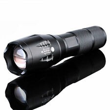 8000 Lumens Tactical Zoomable 5-Modes Flashlight XML T6 LED Military Torch Lamp