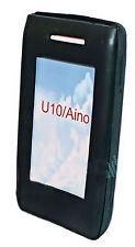 Silikon TPU Handy Cover Case Hülle Schale in Schwarz für Sony Ericsson Aino
