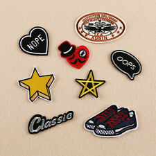 8 x Embroidery Star Shoes OOPS Sew Iron On Patch Badge Bag Hat Jeans Applique