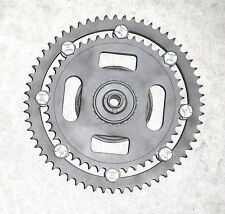 1960s VINTAGE SACHS 100/125 DUAL 47/60-T REAR SPROCKET CARRIER, EX/RESTO (#E412)