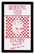 Morning Side Dairy TIN SIGN metal poster ad home bar wall decor vintage cow OHW