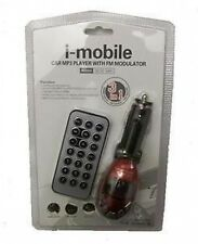 CAR MP3 PLAYER TRANSMITTER IN RED UK SELLER *NEW*