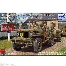 Bronco 1/35 CB35106 US GPW 1/4 ton 4x4 Utility Truck Mod.1942 w/10-CWT Trailer