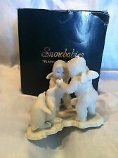 VTG  Collectibe lDepartment 56 Snowbabies PLAYING GAMES IS FUN Figurine #7947-2