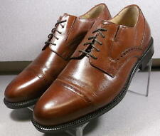 206616 MS50 Men's Shoe Size 9.5 W Brown Leather Lace Up Johnston & Murphy