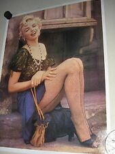 "Marilyn Monroe - Orig. vintage ""carnival type"" Poster / Fishnet /exc. New cond."