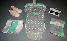 Baby girl clothes, 6 months, Just One You Carter's bodysuits,pants,socks,shoes