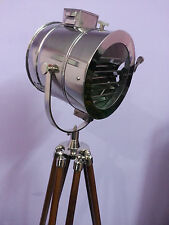 Designer Nautical Tripod Lamp Marine Floor Lamp Vintage Spot Studio Search Light
