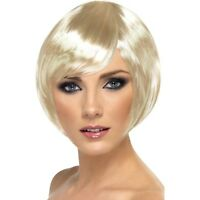 BLONDE BABE WIG BOBBED SHORT BOB LADIES FANCY DRESS PARTY COLOUR GOLD SEXY WOMEN
