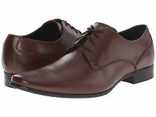 Calvin Klein Men's Size 13 Brodie Leather Medium Brown Oxford Dress Shoes NEW