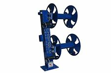 "12"" BLUE Heavy-Duty FIXED-BASE Double Welding Cable Lead Reel"