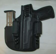 CUSTOM Kydex LEFT HAND IWB Holster with extra Mag Carrier for S&W SD9VE