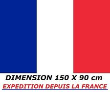 DRAPEAU 150 X 90 cm FRANCE FRANCAIS FOOTBALL FLAG No maillot écharpe fanion ...