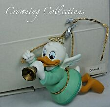 Grolier Donald Duck as an Angel Disney Ornament Playing Trumpet Horn DCO Vintage