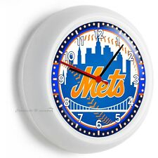 NY NEW YORK METS BASEBALL TEAM LOGO WALL CLOCK MAN CAVE LIVING ROOM GARAGE DECOR