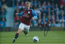 Barry BANNAN SIGNED Photo AFTAL Autograph COA Aston Villa Premier League