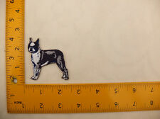 "EMBROIDERED Boston Terrier Dog #11 Iron On / Sew On Patch approx 3""(7.5cm)"