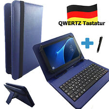 Deutsche Tastatur Hülle - Blackberry Playbook 7 zoll Tablet Tasche Qwertz Blau