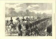 1874 Queen Passing Along Line Reviewing Troops At Windsor Returning Ashanti War