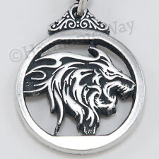 WEREWOLF were wolf Gothic Fantasy Pendant WOLF SPIRIT Necklace detail both sides