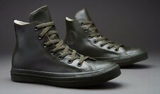 CONVERSE UNISEX CHUCK TAYLOR ALL STAR olive LEATHER HIGH, UK 3 / 22 cm RRP 60 £