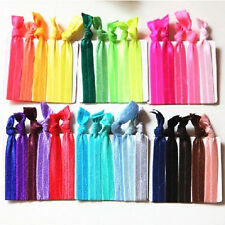 30Pcs Women Girls Elastic Hair Ties Rubber Band Knotted Hairband Ponytail Holder