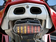 New Ducati 749 999 CLEAR LED Tail light replacement with built in indicators