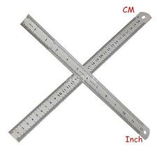 30 cm 12 inch Stainless Steel Metal Ruler Metric Double Sided Measuring Tool