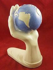 Plâtre Main Tenant un Globe Epoque Art Déco Signé C Loche