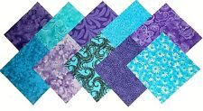 "10 10X10"" Quilting LAYER CAKE Squares Twilight/Shades of Purple&Blue"