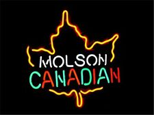 MOLSON CANADIAN NEON LIGHT SIGN Display STORE BEER BAR CLUB Signage 17x14""