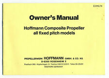 (110) Owner's Manual Hoffmann Composite Propeller / CAARP CAP10 -ROBIN - SCHEIBE