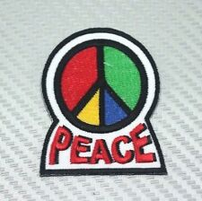 PEACE SIGN Embroidered Patch Iron Sew Logo Hardcore Emblem Custom new HEAVY