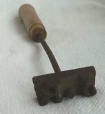 ANTIQUE METAL IRON CATTLE OR LEATHER BRANDING IRON BRANDER LETTERS JR