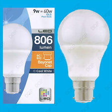 8x 9W LED Blanc Froid Basse Consommation Perle GLS Globe Ampoule Lumière BC B22
