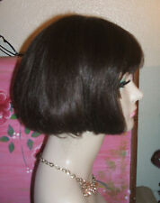 Vintage dark brown BOB wig     #22