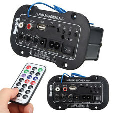 Car Bluetooth HiFi Bass Power AMP Stereo Digital Amplifier USB TF with Remote