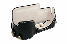 Genuine Real Leather Camera Bag Case for Panasonic LUMIX DMC - GX7 GX7 Black